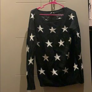 Black and white express star sweater